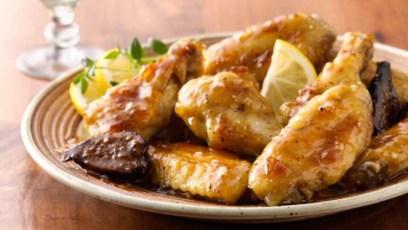 Tangy Lemon-Fig Chicken Wings