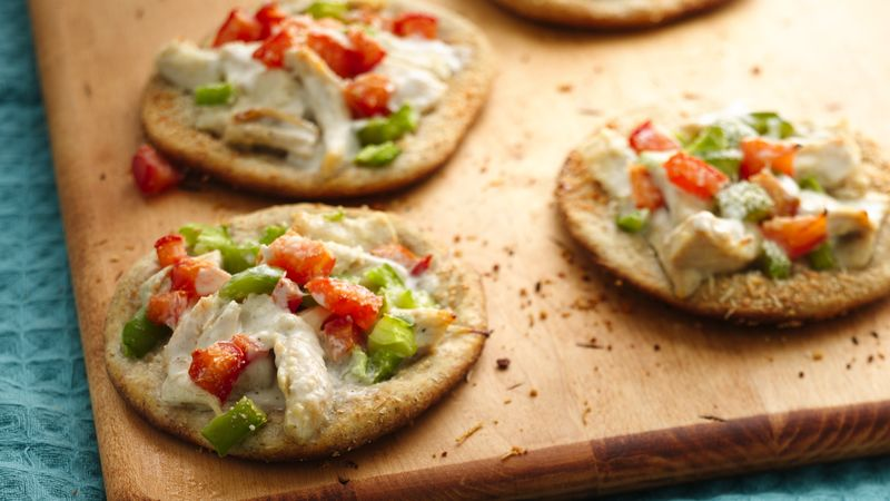 Chicken Ranch Mini Pizzas
