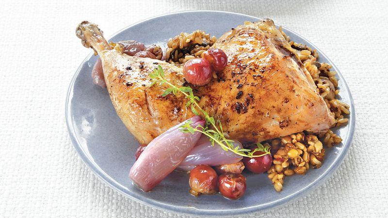 Chicken with Grapes and Thyme
