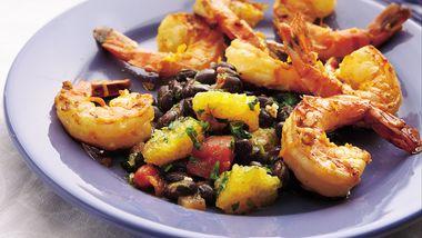 Calypso Shrimp with Black Bean-Citrus Salsa