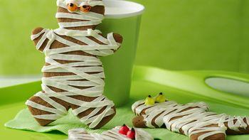 Chocolate Mummy Cookies