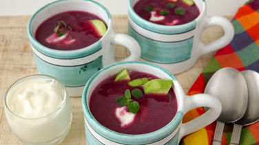 Red Cabbage Soup with Avocado
