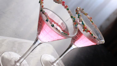 Martini Rosa Escarchado con Yogur y Granas