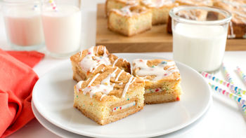 Outrageous Stacked Rainbow Chip Blondies