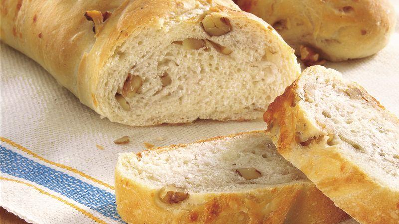 Walnut-Gorgonzola Baguettes