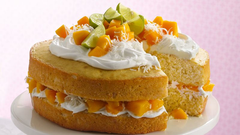 Mango Birthday Cake
