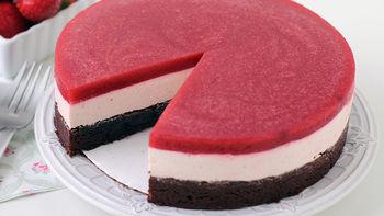 Chocolate Strawberry Mousse Cake