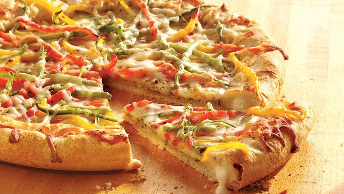 Pesto and Cheese Pizza