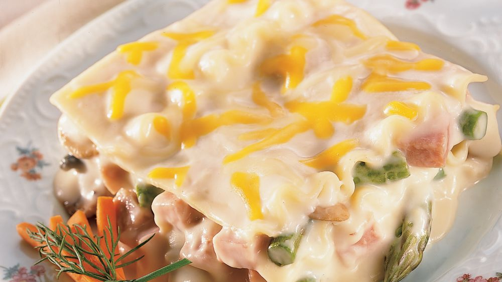 Ham and Asparagus Lasagna