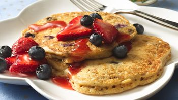 Blueberry-Bran Pancakes