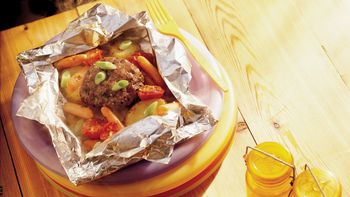 Cheddar Burgers and Veggies