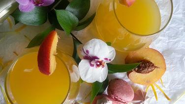 Peach and Apple Cider Bellini