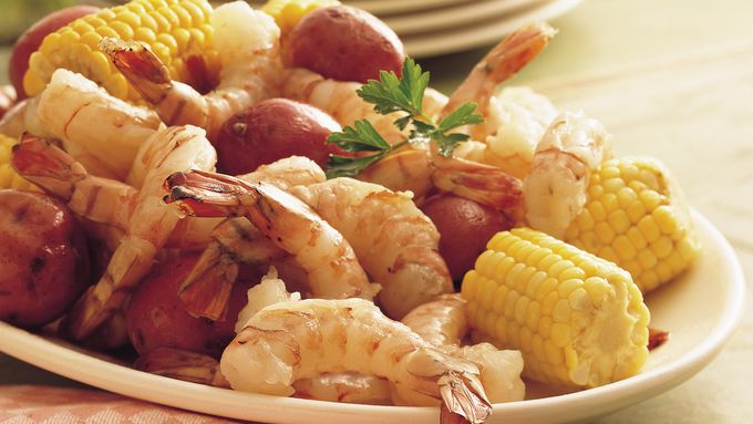 Shrimp, Sweet Corn and New Potato Boil