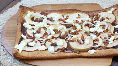 Warm Apple Radicchio Flatbread
