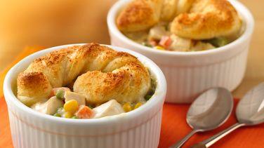 Mini Chicken Alfredo Pot Pies