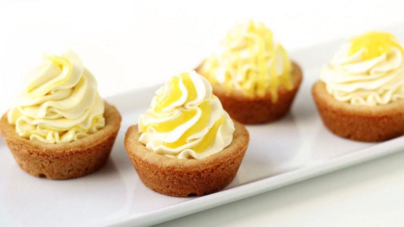Triple Lemon Cookie Cups
