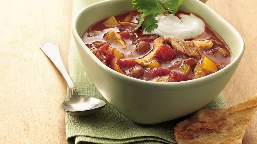 Slow-Cooker Chicken Enchilada Chili (Cooking for Two)