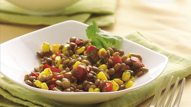 Lentil-Corn Pilaf