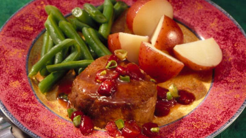 Venison with Cranberry-Wine Sauce