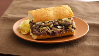 Roast Beef and Gorgonzola Hoagies
