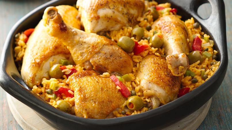 Puerto Rican Arroz con Pollo: Chicken & Rice