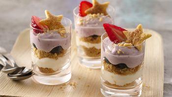 Berry Pie Trifle Shots