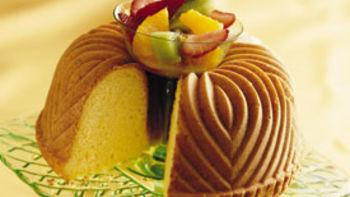 Cream Cheese Pound Cake with Sassy Fruit Salsa