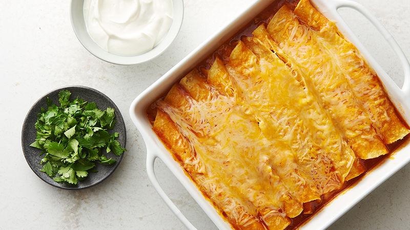 Easy Microwave Chicken Enchiladas
