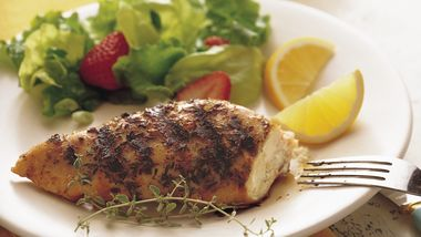 Grilled Lemon Thyme Chicken Breasts