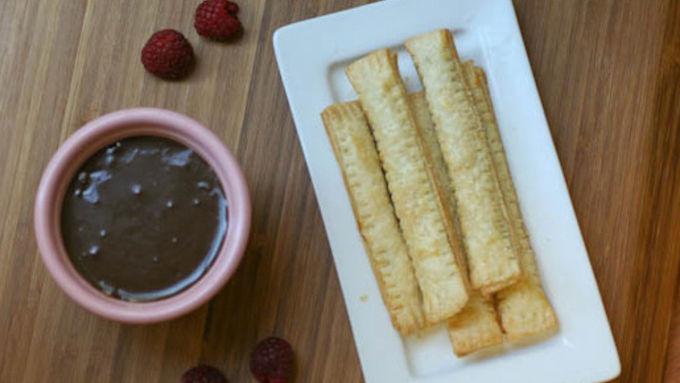 Chocolate-Raspberry Pie Sticks