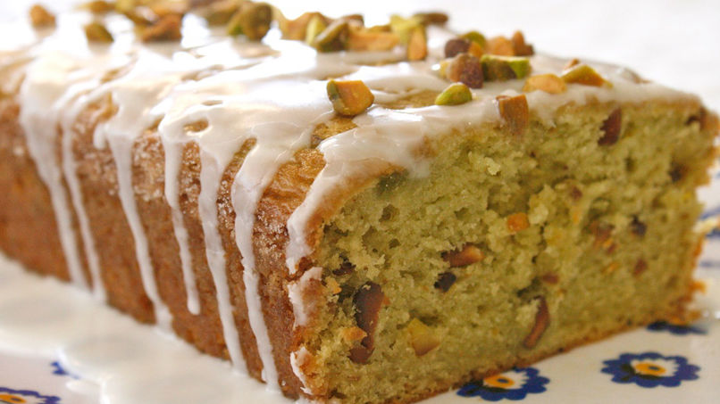 Avocado and Pistachio Loaf with Lime Icing