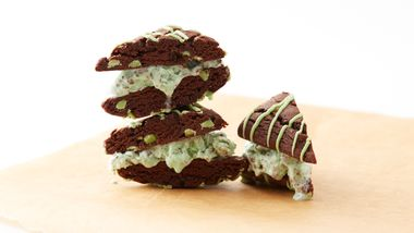 Mint Chocolate Chip Ice Cream Sandwich