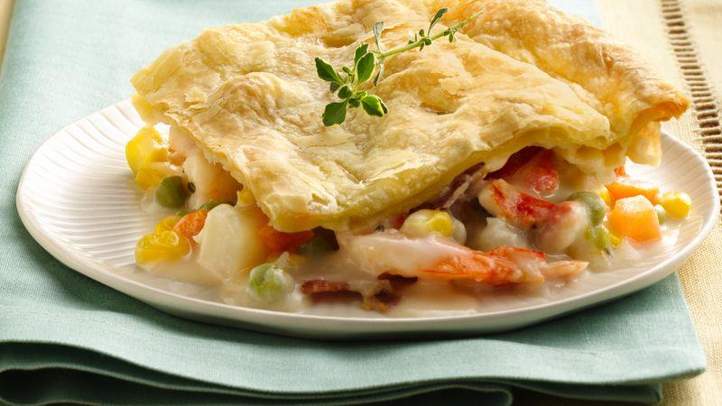 Seafood Chowder Pot Pie