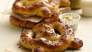 Brat and Sauerkraut-Filled Pretzels