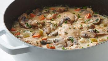 Creamy Chicken and Mushroom Fricassee