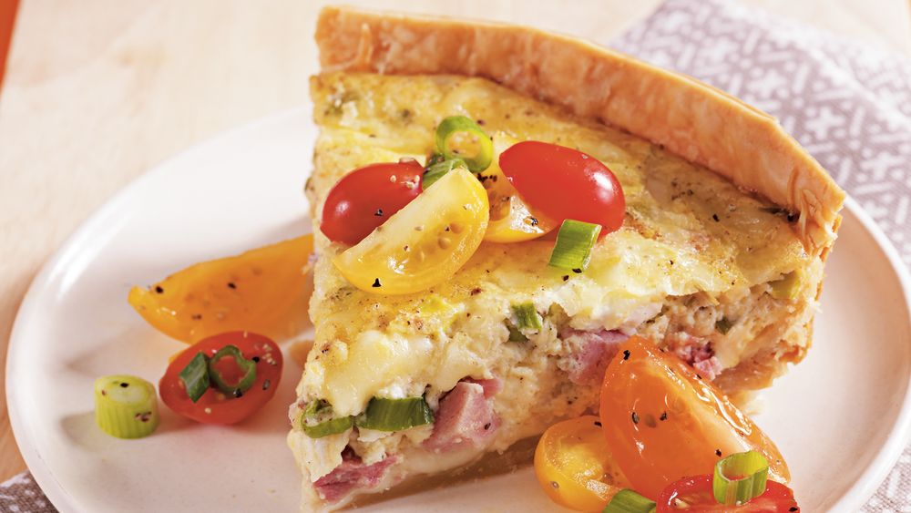 Slow-Cooker Ham and Swiss Quiche