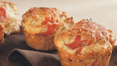 Smoked Salmon and Dill Muffins