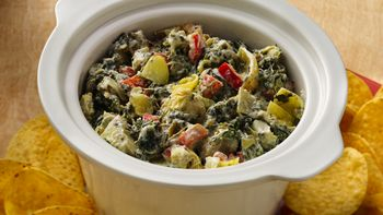 Slow-Cooker Southwest Artichoke and Spinach Dip