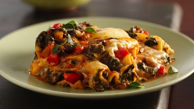 Slow-Cooker Red Pepper-Spinach Lasagna