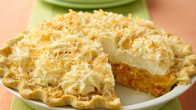 Apricot-Coconut Cream Pie