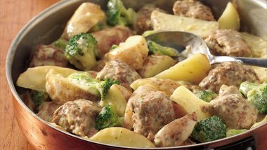 Creamy Meatballs and Potatoes
