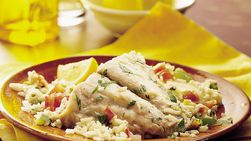 Snapper with Sautéed Tomato-Pepper Sauce