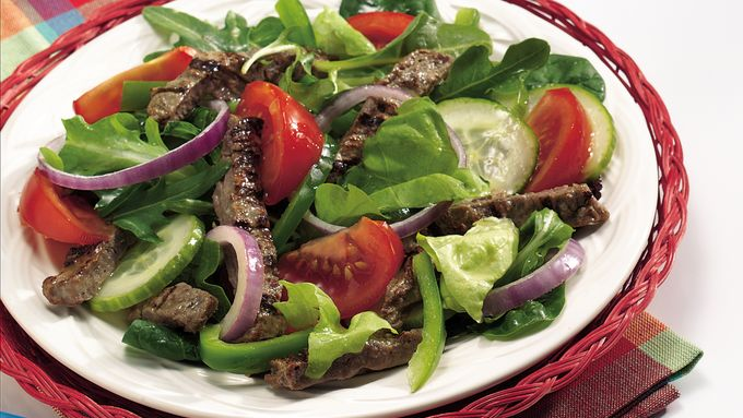 Beef Garden Salad with Tangy Vinaigrette