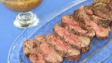 Grilled Beef Tenderloin with Black Pepper Rub