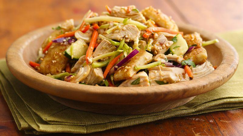 Sesame-Crouton Asian Chicken Salad