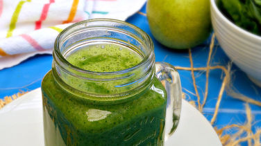Ginger, Pear, Green Smoothie with Greek Yogurt