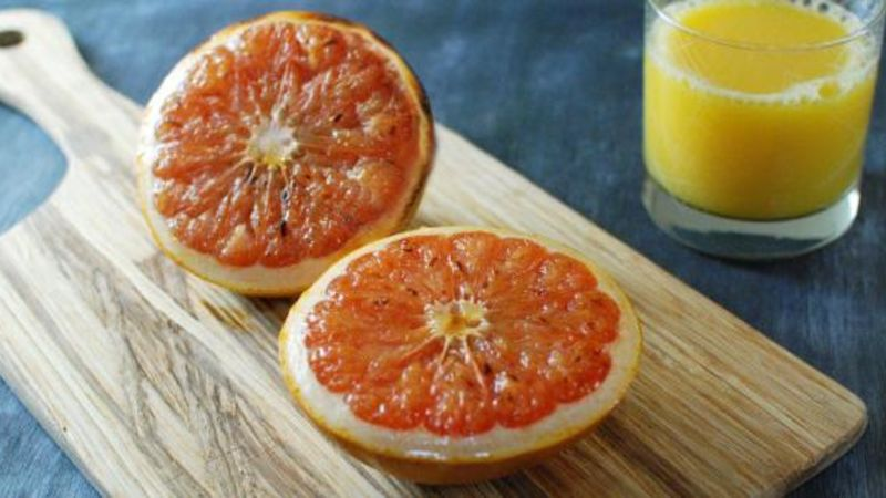 Boozy Broiled Grapefruit