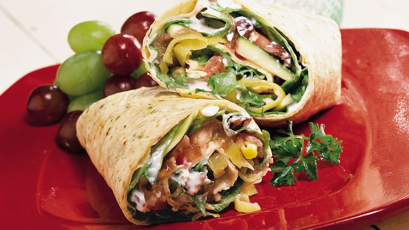 Greek Veggie Wraps