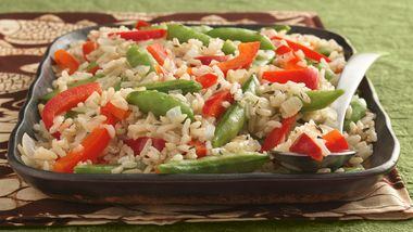 Gluten-Free Sugar Snap Peas and Rice