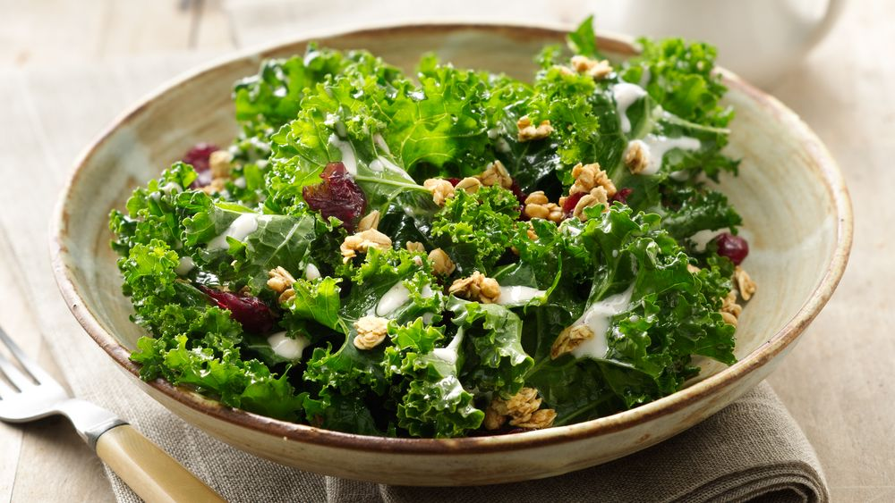 Crunchy Kale Salad with Yogurt Vinaigrette